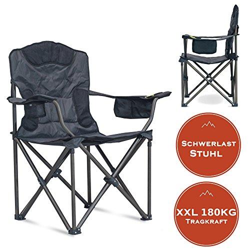 XXL Campingstuhl mit bis zu 180 KG Tragkraft | EXTREMER Komfort dank zusätzlicher Polsterungen |...