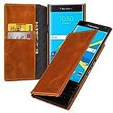 Blackberry Priv Ledertasche,Keledes Book Type Brieftasche