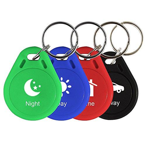 Wintop iRFiD Chipschlüssel, 4-teilig und 4-farbig, 6132R-S008-P953