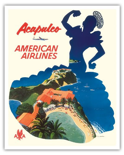 acapulco-mexique-american-airlines-silhouette-dune-danseuse-mexicaine-vintage-airline-travel-poster-