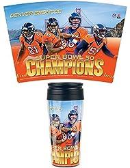 Wincraft Tapis Motif Denver Broncos Super Bowl Champions 50NFL Tasse de voyage