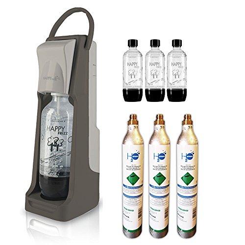 Trinkwassersprudler Wasser Happy Frizz Strong + 3Bott. + 3Gasflaschen CO2-450GR