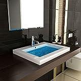Modern Badezimmer Hochglanz Waschbecken Handwaschbecken aus Mineralguss 60 cm Breit