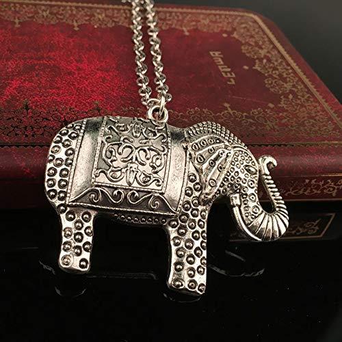 GMZTT Pendientes De Gama Alta Temperamento Collar Moda Elefantes Collares Pendientes Suéter...