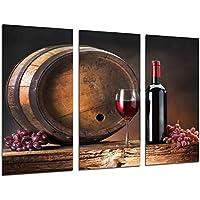 Cuadro Moderno Fotografico Vino Tinto, Uvas, Bodega, 97 x 62 cm ref. 26312