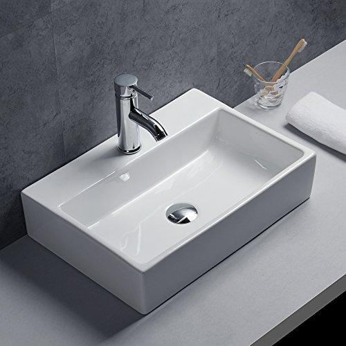 Gimify Keramik Waschbecken Hängewaschbecken Waschtisch für Badezimmer Hotel Haus Büro