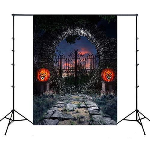 Fotografie Hintergrund Halloween,XGZ Backdrops Kürbis Vinyl Fotografie Studio Halloween Kürbis Laterne Halloween Kulissen (Mehrfarbig - Wolf Prinzessin Kostüm