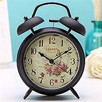 LLSJZ Reloj despertador de metal retro Europea personalidad los estudiantes  creativos niños despertador 558fc9792e4