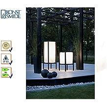 Konstsmide Set lampada del patio Palermo, 2dimensioni, illuminazione da giardino, in alluminio, colore: nero, 451–752/454–752