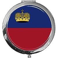 """metALUm - Extragroße Pillendose in runder Form""""Flagge Liechtenstein"""" preisvergleich bei billige-tabletten.eu"""