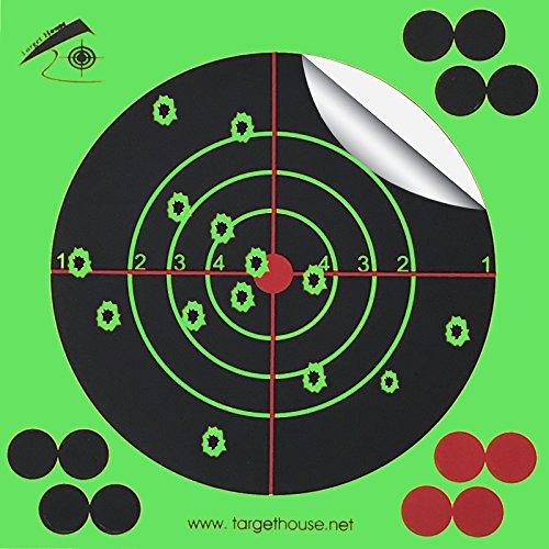 Target House 14x 14cm selbstklebende, aufplatzende und reaktive Zielscheiben für Pistolen, Gewehre, und Luftgewehre