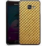 Samsung Galaxy A3 (2016) Housse Étui Protection Coque Rivets Or Motif