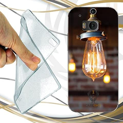 CUSTODIA COVER CASE LAMPADINE LUCI CORRENTE PER HTC ONE M8 GOOGLE EDITION