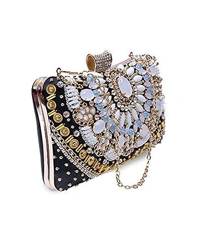 Europa und die Vereinigten Staaten Luxus Mode handgefertigte Diamond Dinner-package Abend Tasche Handtaschen, B