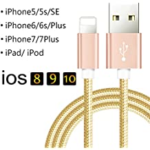 [1M] Câble Pour iPhone6 /6s /iphone 6plus/ 6s plus Smartphone - Charge /Synchro Ultime Rapide Lightning USB Cable -Or