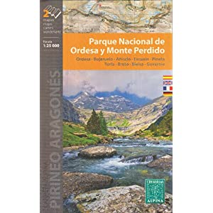Ordesa e dintorni 1:60.000 mappa topografica trekking (PN de Ordesa y Monte Perdido, Aínsa, Boltana, Valle del Ara, Alto Cinca - Pirenei, Spagna)