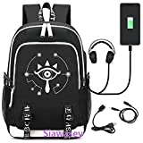 Siawasey anime giapponese Cosplay luminoso zaino Bookbag laptop bag scuola con porta USB di ricarica The Legend of Zelda 2