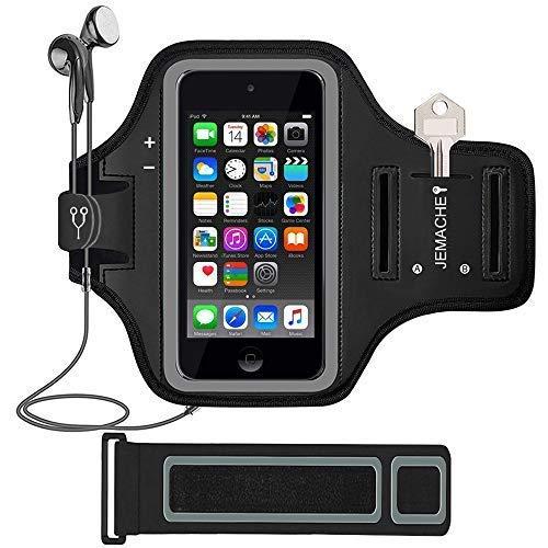 uch 5. / 6. Generation, Jemache für Fitnessstudio, Laufen, Training, Sport, mit Kartenhalter, iPod Touch 6/5, schwarz ()