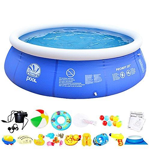 Pinjeer piscina netta grande piscina per bambini per adulti lavello piscina per bambini piscina per uso domestico piscina gonfiabile di ispessimento 1.8 * 1.8 * 0.73m per età 3-10