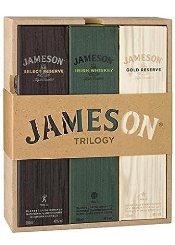 Jameson Trilogy Irish Whiskey Gift Set (3 x 20cl Bottles)