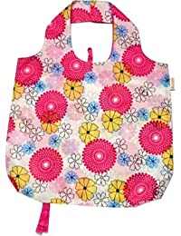 B.B.Begonia A80111713 Pocket Full Of Posies Printed Reusable Shopping Bag - 19.5 X 16.5 In. Pack Of 3