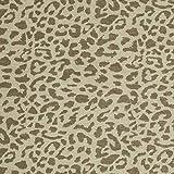 Fabulous Fabrics Jersey Stoff Tiger - Oliv - Meterware ab