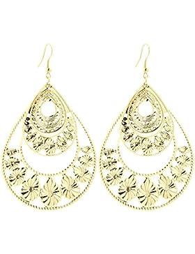 2LIVEfor Große Statement Ohrringe Silber Gold Tropfen Ohrringe lang Hängend Groß Blatt Ohrringe Bohemian Vintage...