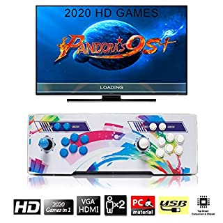 2020 Arcade Video Games Console, SeeKool Pandora's Box 6 Multiplayer Home Joystick Arcade Console, Customized Buttons, 1280x720 Full HD, Advanced CPU, Support PS3, Compatible with HDMI and VGA