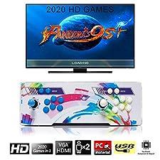 [2020 Jeux Classiques]Console de Jeux vidéo, SeeKool 4 Joueurs Pandora's Box 6 Joystick Arcade Console de Jeux Retro, 1280 * 720 Full HD, Bouton personnalisé, Supporte PS3, Output de HDMI et VGA