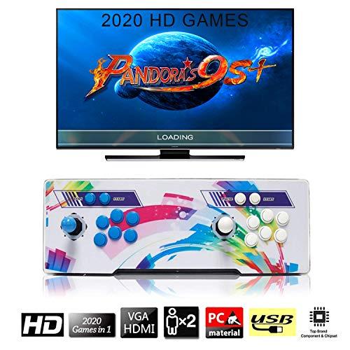 SeeKool 2020 Juegos clásicos Consola de Videojuegos, Pandora's Box 6 Multijugador Arcade Game Console, 2 Joystick Partes de la Fuente de alimentación HDMI y VGA y Salida USB, Compatible con PS3