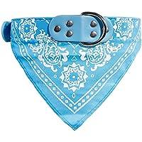 Ruikey Pañuelo para Mascotas Bufanda Azul Claro del Patrón para Bandana Decoración para Perro Gato(M)