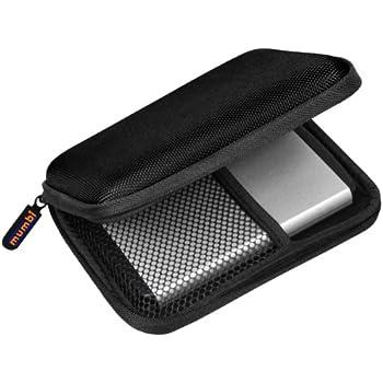 mumbi externe Festplattentasche bis 6,35 cm (2,5 Zoll) schwarz