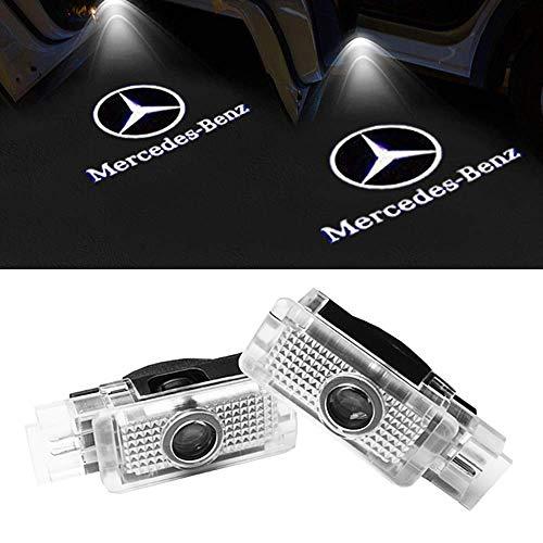 LIKECAR 2 Stück Autotür Logo Türbeleuchtung Projektion Licht Einstiegsbeleuchtung Projektor Auto Ghost Shadow Willkommen Licht (w203-2)