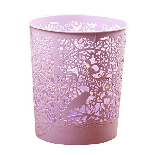 FOKOM Papelera: Papelera Oficina/Cubo Basura/Papelera Cocina/Papelera Infantil/Papelera Reciclaje-22 x 18 x 25cm