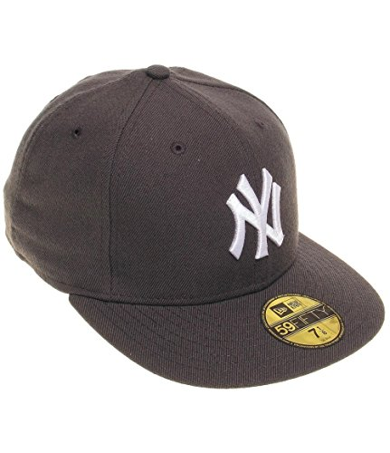 New Era New York Yankees Cap Mlb Basic Graphite / White - 7 1/8 - 57cm