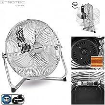 TROTEC Bodenventilator / Windmaschine TVM 12 | 55 Watt Leistung | Durchmesser 30 cm | 3 Geschwindigkeitsstufen | Chrom-Design | inkl. Tragegriff