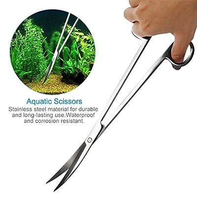 sgerste Aquarium-Set Werkzeug Zubehör Edelstahl Aquarium Tank Wasserpflanze Pinzette Schere Tools Set Fisch Starter Kits