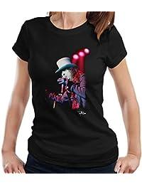 Tony Mottram Official Photography - Alice Cooper Top Hat Performing Women's T-Shirt