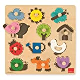Goula 53118 Wooden Countryside Silhouette Puzzle (12 Pieces)