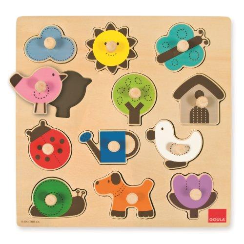 Goula - Puzzle siluetas, piezas de madera (Diset 53118)