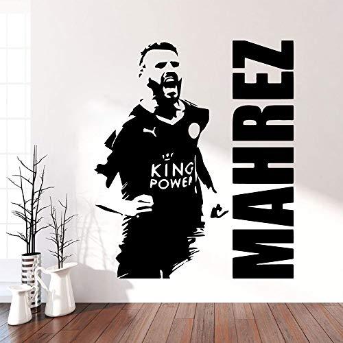 zhuziji Mahrez Fußball Selbstklebende Vinyl Tapete wasserdichte Wandtattoos Kunst Dekoration DIY Hom 28 cm X 33 cm -