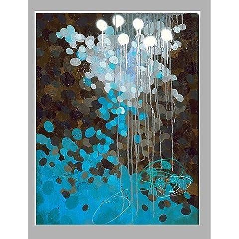 OFLADYH ® color abstracta nueva pintura del diseño del arte popular moderna , with frame-24