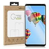 kalibri Protection d'écran en verre pour LG V30 / V30+ / V30S / V30S+ ThinQ 3D verre de protection film full cover protecteur d'écran avec cadre en noir