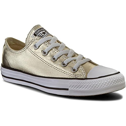 Converse Unisex-Erwachsene Seasonal Metallic Hausschuhe gold / weiß