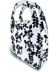 Basil Womens BASE7 - Bolsa para bicicleta, color blanco y negro multicolor blanco y negro Talla:16 Litre