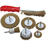 Am-Tech 7 Piece Wire Brush Set - Tool Drill Cleaning Rust Paint Scale Remover