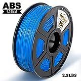 Filamento impresora 3D Enotepad ABS, filamento ABS 1.75 mm 1 kg, precisión dimensional 1.75 ± 0.02 mm, impresoras 3D ABS azul