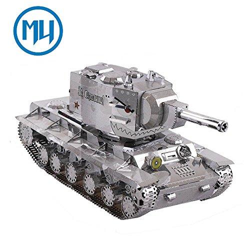 MU 3D Metall Puzzle Zweiten Weltkrieg KV-2 Tank Panzer Modell YM-N022 DIY 3D Laserschnitt Modell-Bausatz Spielzeug