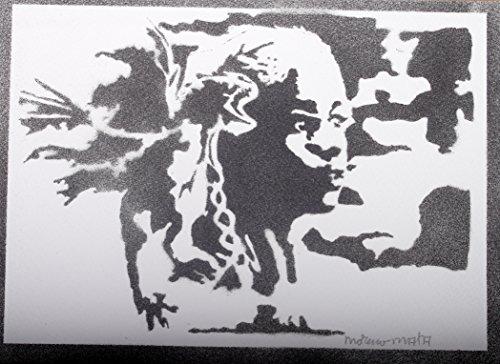 Daenerys Targaryen Le Trône De Fer (Game Of Thrones) Handmade Sreet Art - Artwork - Poster