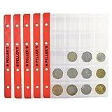 10 Feuilles pour collection de pièces de monnaie, 35mm X 40mm (pour classeur M). 20 Pochettes pour monnaies idéal pour les pièces en euros et autres jusqu'à 31 mm de diamètre....